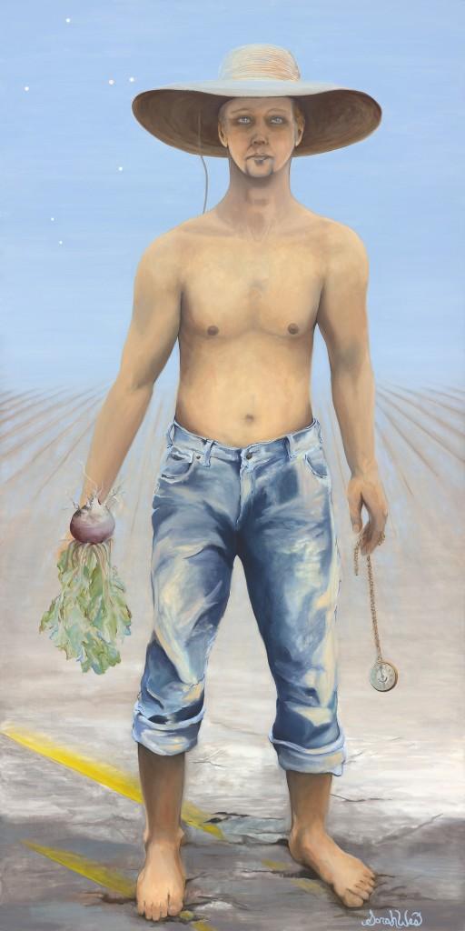 "Atlas | Sarah West Print Size 22x 38"" original Oil on Canvas 42x 84"" (2017)"