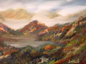 Autumn Colors of Appalachia (Untitled) Oil on Canvas by Sarah West (2009)