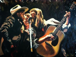 The Avett Brothers Oil on Canvas by Sarah West (2014)