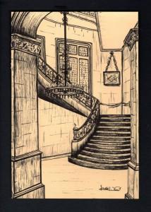 The Historic Biltmore Estate - Asheville, NC Pen Illustration by Sarah West (2012)