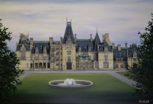 The Historic Biltmore Estate Ashville, NC Oil on Canvas by Sarah West  (2012)