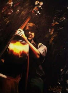 The Avett Brothers - Bob Crawford Oil on Canvas by Sarah West (2014)