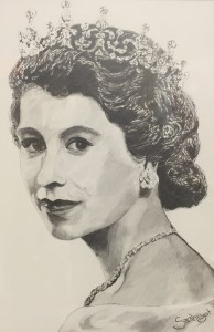 (early portrait study) Elizabeth II Graphite on Paper by Sarah West (2005)