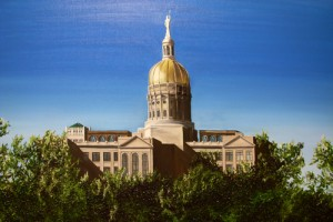 (early Realism study) The Georgia State Capitol - Atlanta, GA by Sarah West