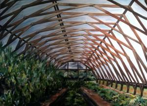 The High Tunnel- Elma C. Lomax Incubator Farm: Concord, NC- By Sarah West Oil on Canvas (2014)