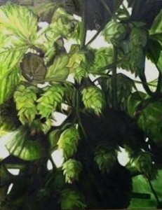 Hops. Lomax Farm - Oil on Canvas by Michele West (2014)