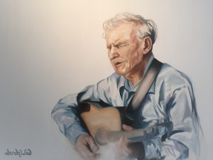 Doc Watson- Sarah West Oil on Canvas (2015)