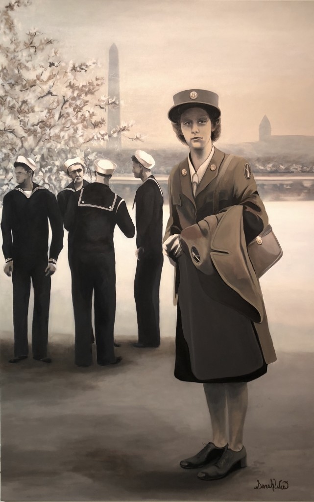 "Wartime 50x 78x 1.5"" Oil on Canvas (2019) Sarah West"