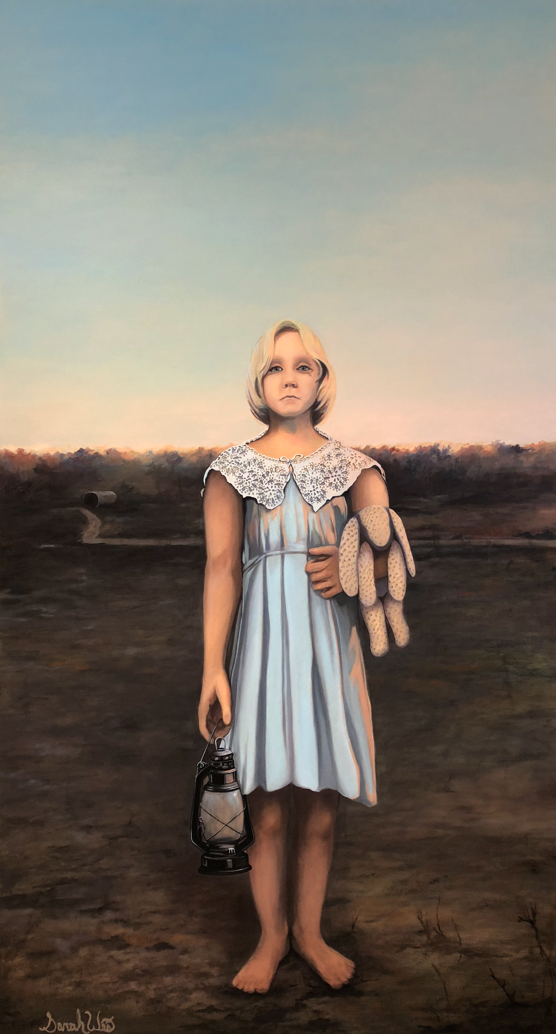 "the Collision of Culture and Lack of Civility series 42x 72x 1.5"" Oil on Canvas (2018) Sarah West"