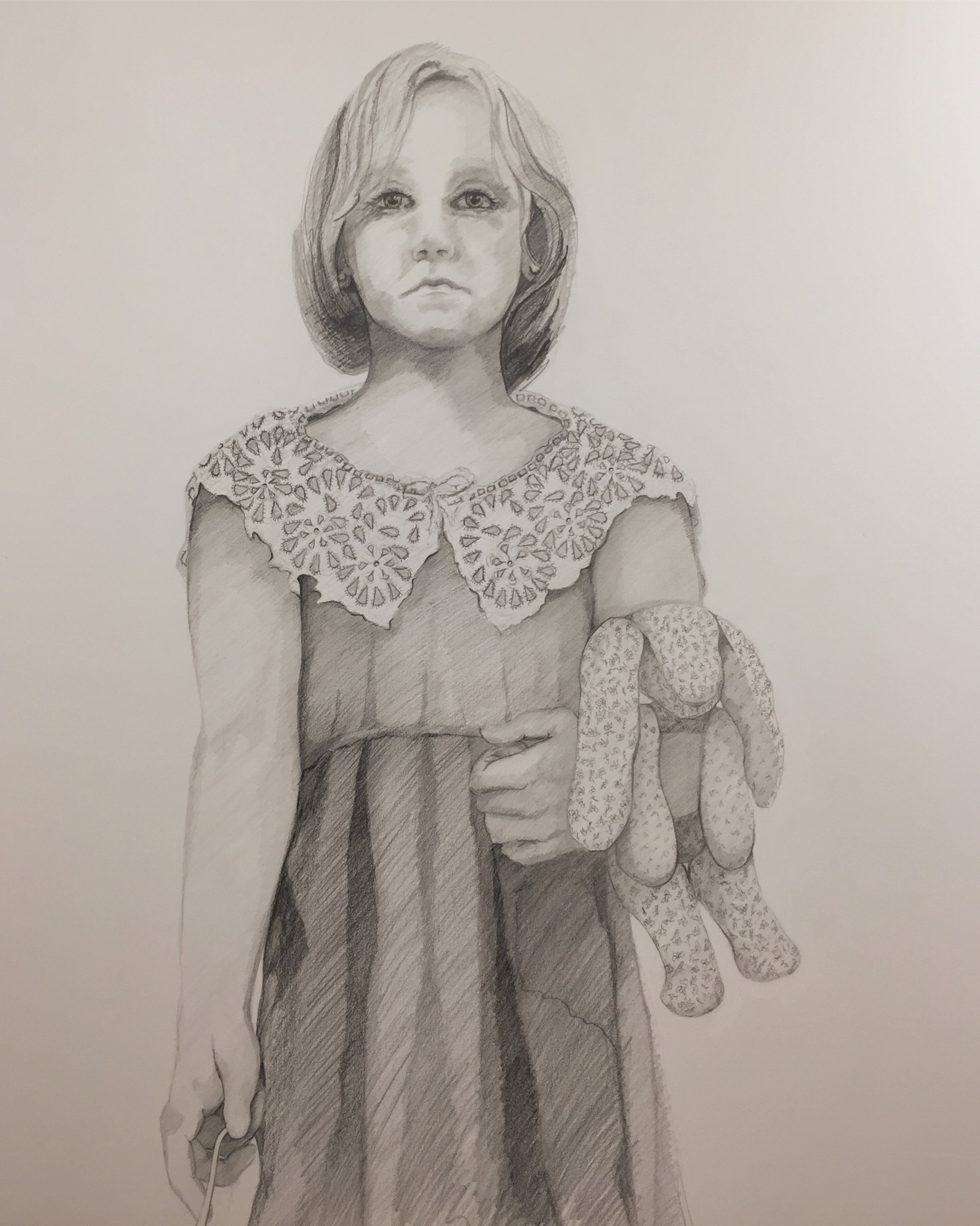 "Study for Vesper | Sarah West the Collision of Culture and Lack of Civility series 30x 40"" Graphite on Paper (2018)"