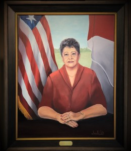 The Honorable Mayor LaFaye Dellinger First Mayor of Smiths Station Oil on Canvas (2018) Sarah West
