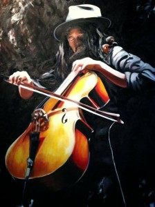 The Avett Brothers - Joe Kwon Oil on Canvas by Sarah West (2014)