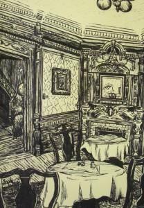 Cedar Crest Inn- Pen Illustration By Sarah West (2013)