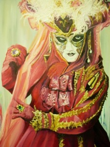 "Masquerade - ""Art is a Jealous Mistress"" Oil on Canvas by Sarah West (2008)"