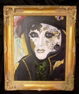 Masquerade - Venetian Angel Oil on Canvas by Sarah West