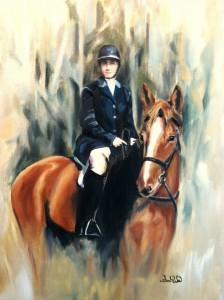 Custom Portrait - Oil on Canvas by Sarah West (2010)