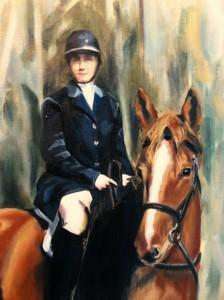 Commission Portrait- Oil on Canvas by Sarah West (2010)
