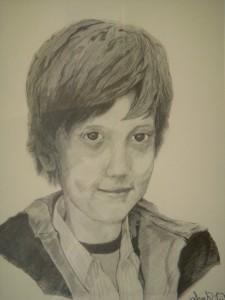 Commission Portrait- Graphite on Paper by Sarah West (2009)