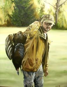 Commission Portrait - Oil on Canvas by Sarah West (2010)
