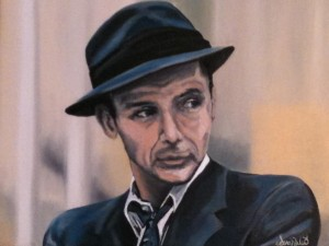 (early portrait study) – Sinatra Oil on Canvas by Sarah West (2008)