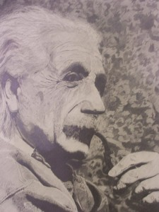 Early Portrait Study- Einstein By Sarah West (2004) Graphite on Paper