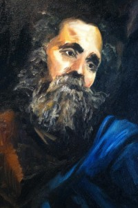 (study of Saint Andrew) Oil on Canvas by Sarah West (2012)
