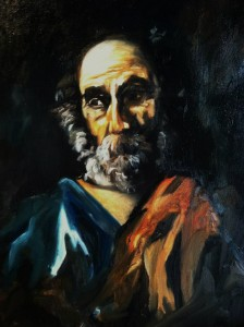 (study of Saint Peter) Oil on Canvas by Sarah West (2012)