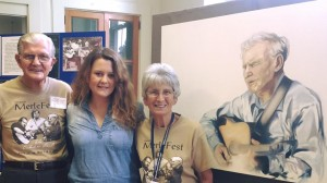 Sarah with David Watson, at the Doc & Merle Watson Museum, NC