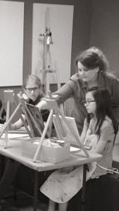 Sarah's atelier classes with young art students