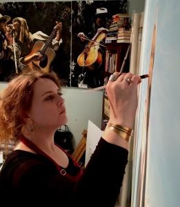 Sarah in studio I