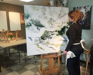 scenes from atelier, Sarah with Appalachia