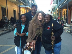 Sarah with New Orleans friends, Doreen Ketchens