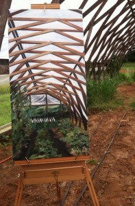 """High Tunnel II"" In Support of the Elma C. Lomax Incubator Farm By Sarah West"