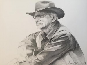 """Jim Avett"" By Sarah West (2015) Graphite on Paper"
